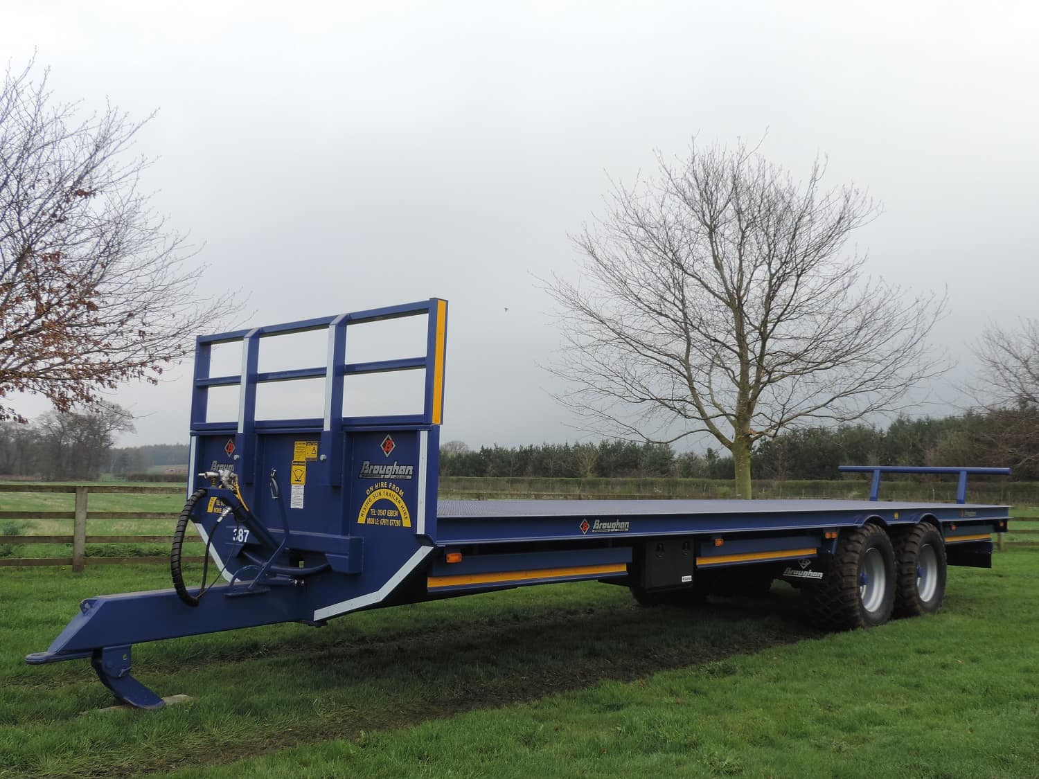 Broughan flat bale trailer